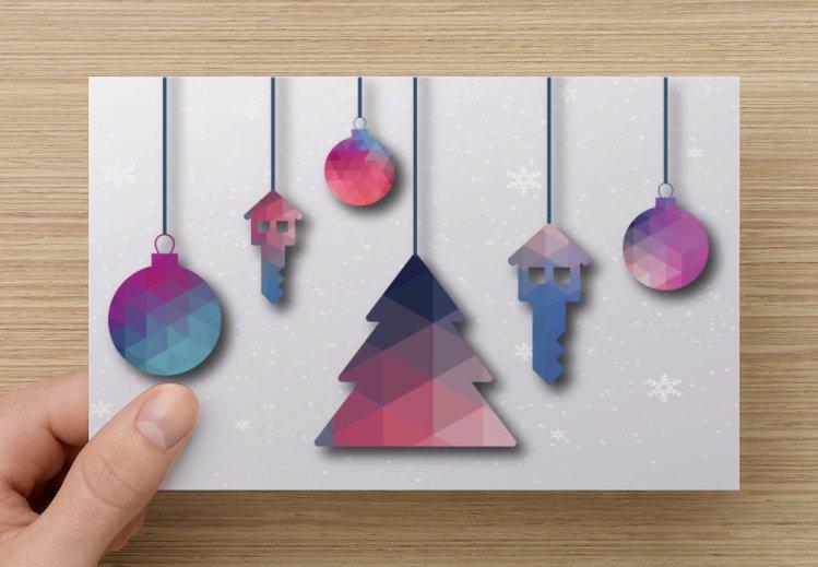 Kerst / verhuis kaart
